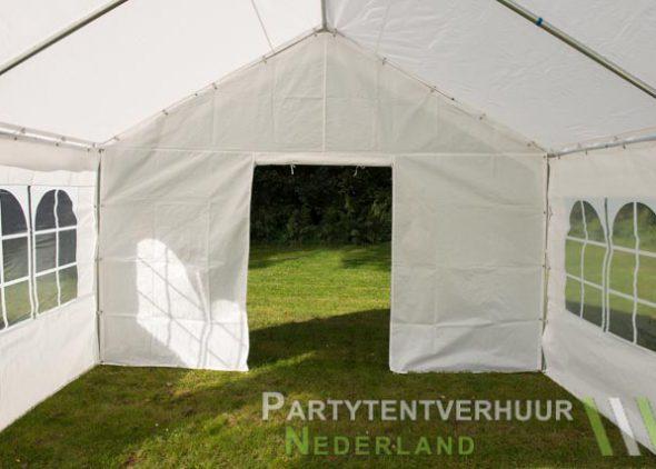 Partytent 4x4 meter binnenkant met deur open - Partytentverhuur Almere