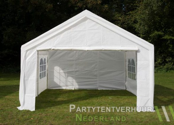 Partytent 4x4 meter voorkant huren - Partytentverhuur Almere