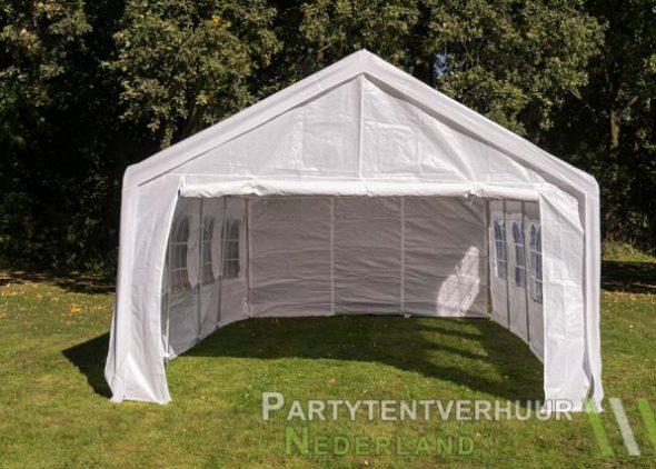 Partytent 4x8 meter voorkant huren - Partytentverhuur Almere