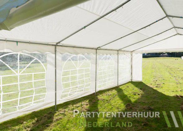 Partytent 5x8 meter binnenkant schuin huren - Partytentverhuur Almere