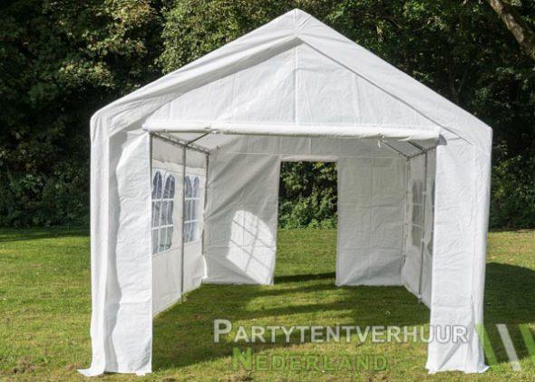 Partytent 3x6 meter voorkant met deur huren - Partytentverhuur Almere
