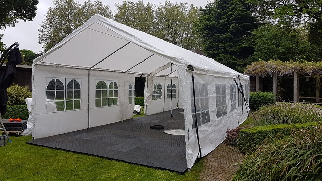 partytent 4x10 meter huren partytentverhuur almere en lelystad. Black Bedroom Furniture Sets. Home Design Ideas