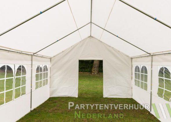 Partytent 4x6 meter voorkant met deur huren - Partytentverhuur Almere