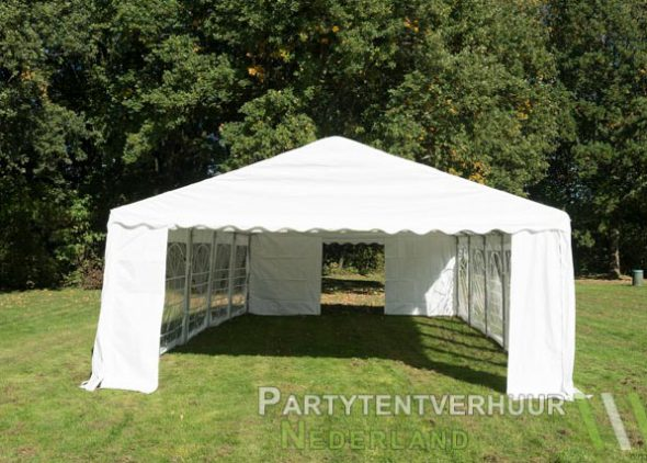 Partytent 5x10 meter voorkant huren - Partytentverhuur Almere