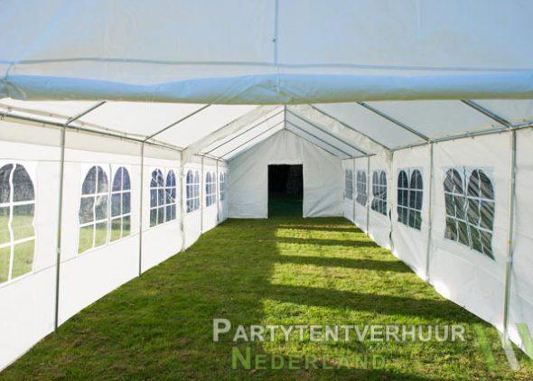 Partytent 6x12 meter binnenkant met deur huren - Partytentverhuur Almere