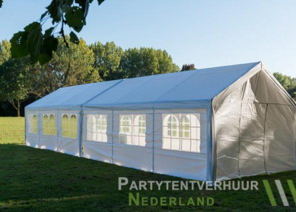 Partytent 6x12 meter zijkant links huren - Partytentverhuur Almere