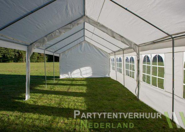 Partytent 6x12 meter zijkant links open huren - Partytentverhuur Almere
