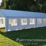Partytent 6x12 meter zijkant rechts huren - Partytentverhuur Almere