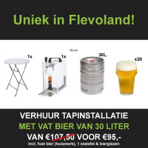 Bierpakket huren Flevoland
