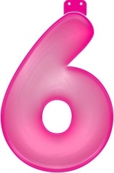 Roze 6 opblaasletter Flevoland