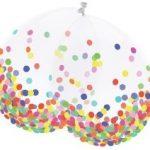 Ballonnen (transparant) met confetti Flevoland