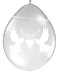 Ballonnen transparant met witte duif Flevoland