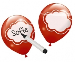 Beschrijfbare ballonnen rood Flevoland