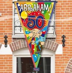Mega puntvlag 150x90cm. Abraham