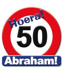 Tekst Hoera! 50 jaar. Abraham