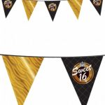 Vlaggen lijn sweet 16 Goud Zwart Flevoland